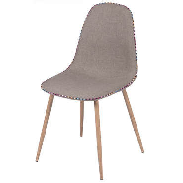 Chaise CHARLTON coloris taupe