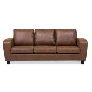 Canapé fixe 3 places en tissu BUFFALO coloris marron