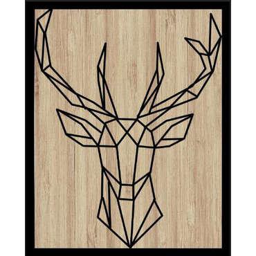 Tableau en bois avec animal géométrique  HYPSTER modèles au choix