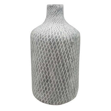 Vase en céramique MALI coloris blanc/ noir