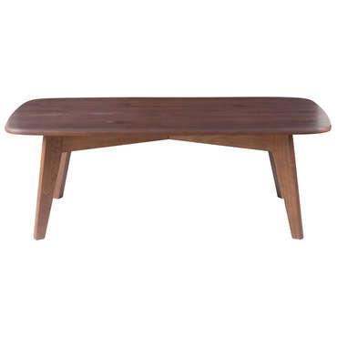 Table basse rectangulaire MAHOE coloris amande
