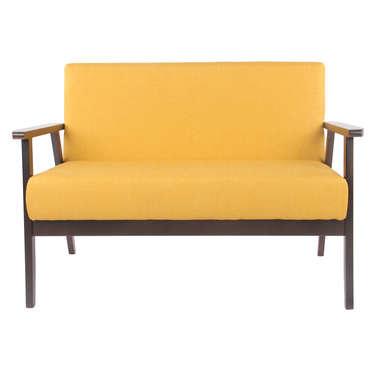 Canapé fixe 2 places TOBIAS coloris jaune